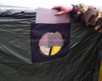 Разделка трубы для банной палатки